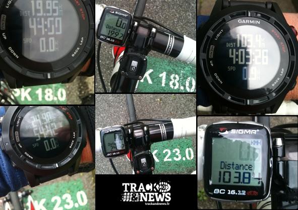 Test GARMIN Fenix 2 – Cyclisme - Contrôle de la distance mesurée