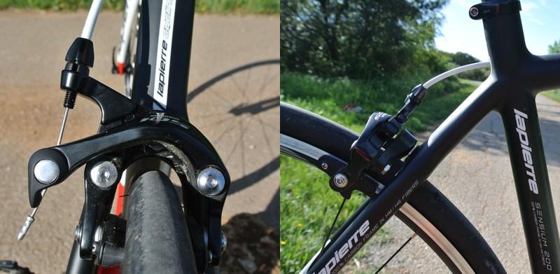 Test Lapierre Sensium 200 TP - Freins Shimano 105 classiques - crédit photo © Track & News