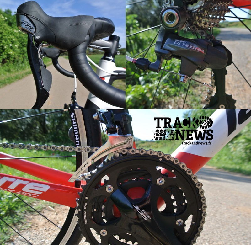 Test Lapierre Sensium 200 TP - Transmission Shimano 105/Ultegra - crédit photo © Track & News
