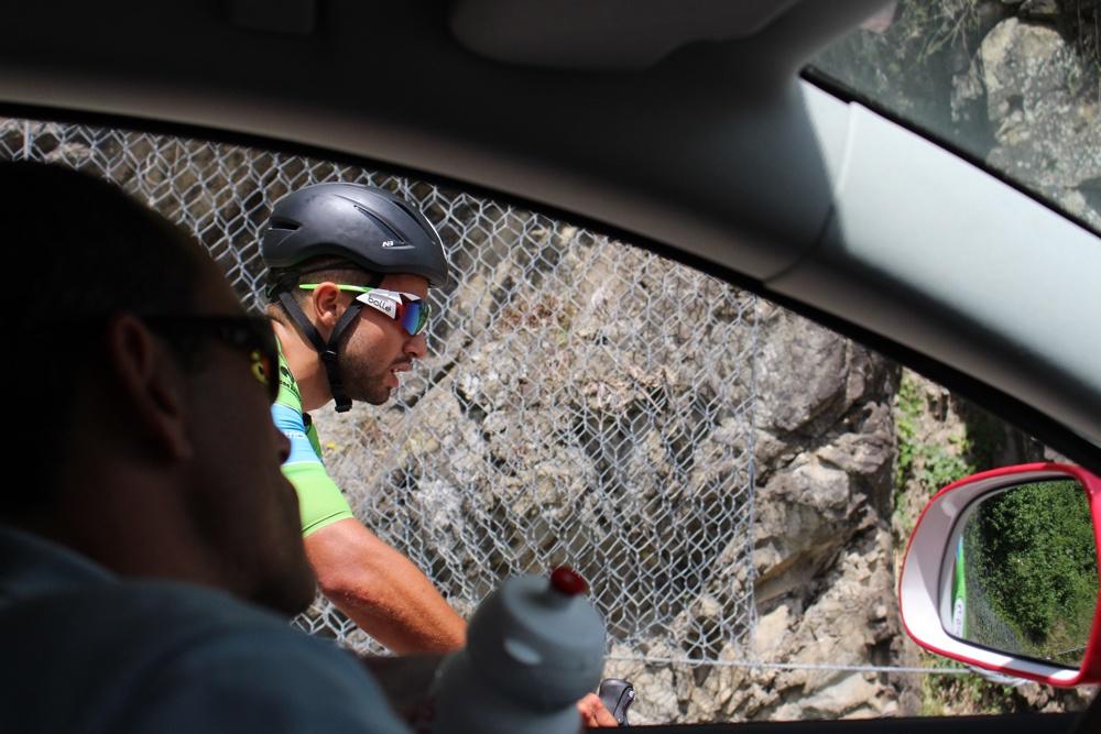 Equipe Cofidis : Stéphane Augé et Nacer Bouhanni - Critérium du Dauphiné 2015 - photo ©Track & News