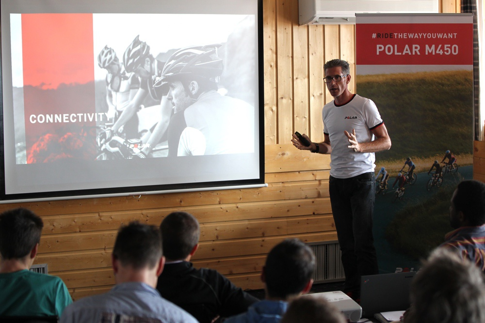 Polar - présentation du GPS  M450 dédié au cyclisme - crédit ©Polar
