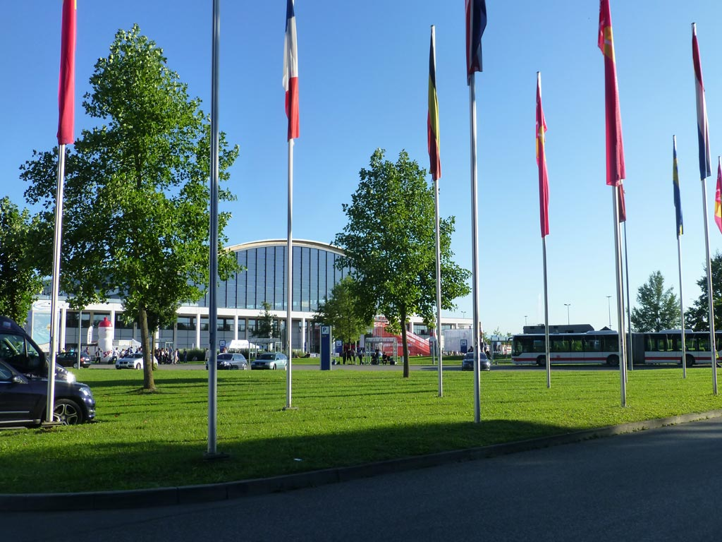 L'accueil du Messe de Friedrichshafen - ©Track & News