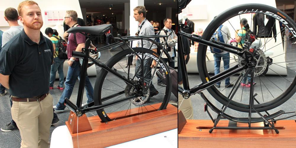 Eurobike 2015 - Un système astucieux d'un porte bagages à double usage - photo©T&N