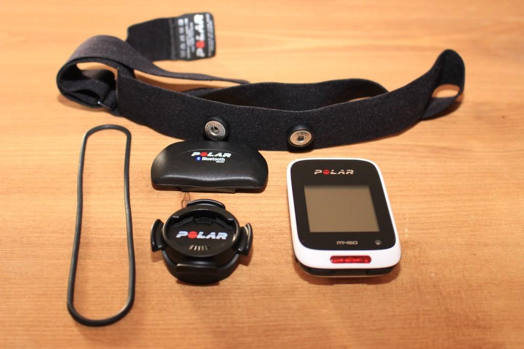 Test du compteur GPS vélo Polar M 450 - Support guidon ou potence, ceinture cardio et compteur M 450 - © Track & News