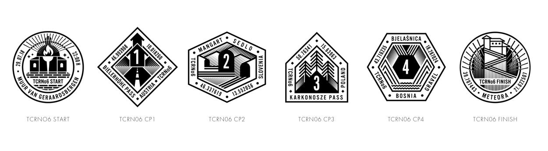 Les logos des CP sont très graphiques. Cette année, le CP4, une ancienne prison située sur les hauteurs de Sarajevo, fut pendant le conflit entre Serbie et Bosnie un centre de tortures. Il faudra y monter via une piste non goudronnée.