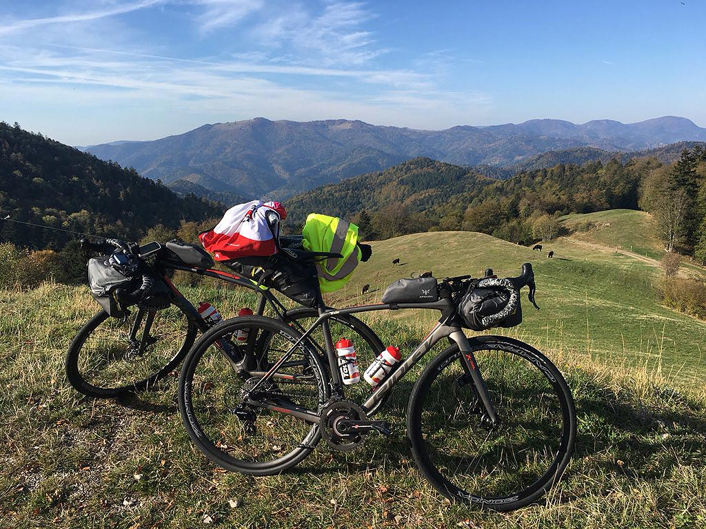 Les cyclistes pros et le bike packing