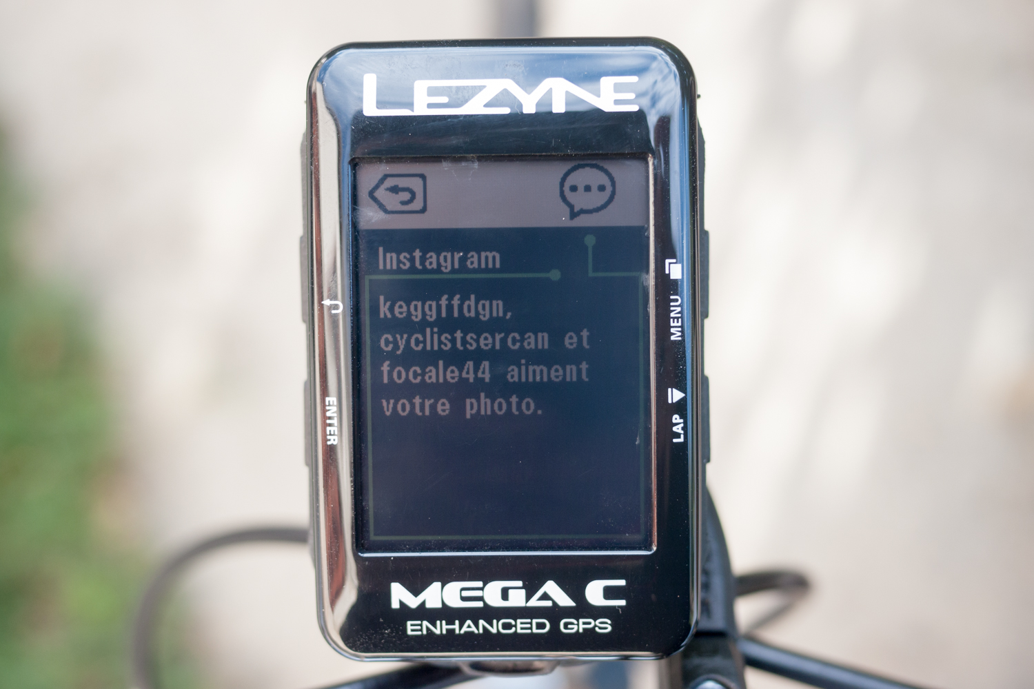 Lezyne Mega C notifications