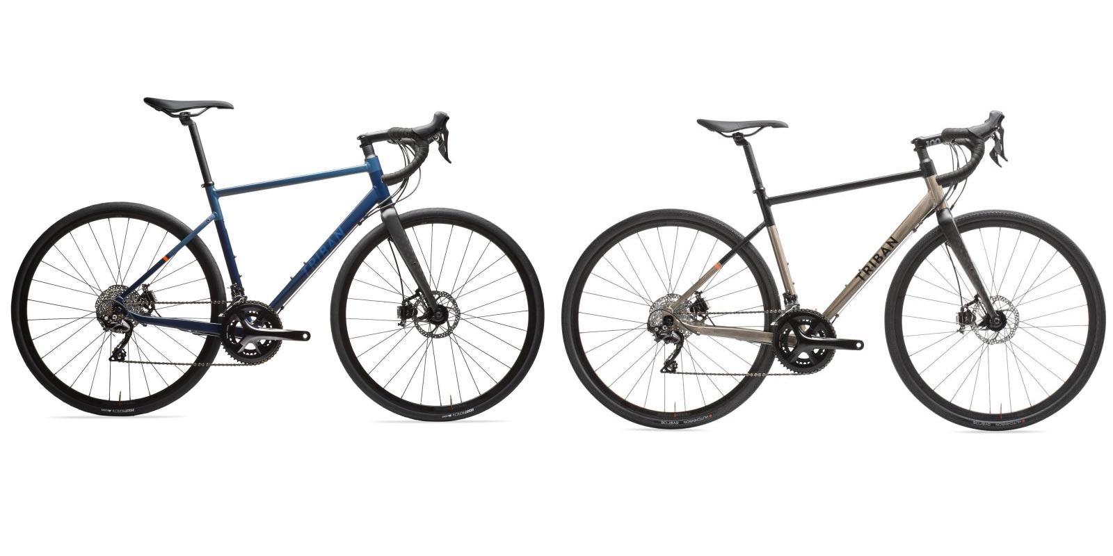 Dans la famille Triban 520 je voudrais le .... à gauche le cyclotourisme à droite la version gravel