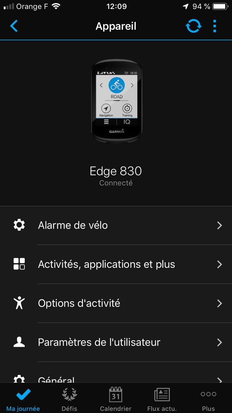 Test Garmin Edge 830