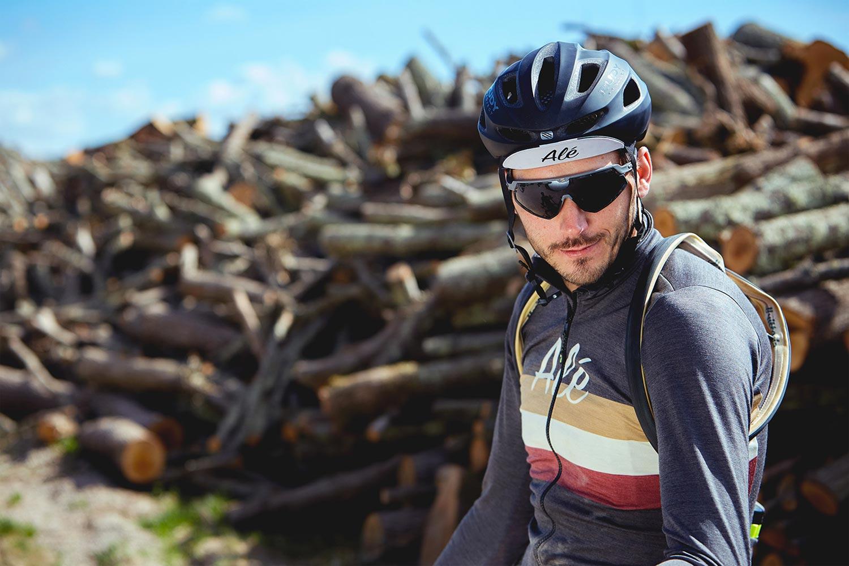 Maillot ALÉ Cycling rétro mérinos