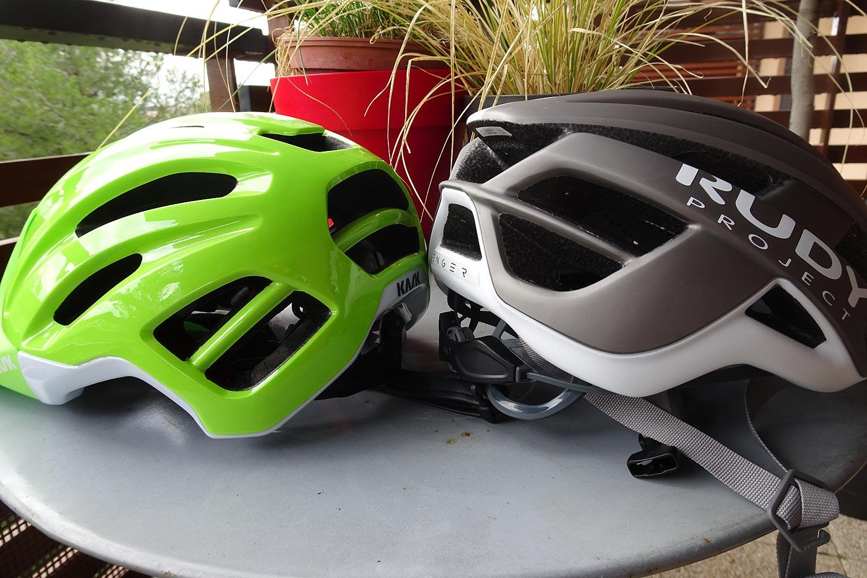 Casques de vélo avec visière Capi de Kask et Venger de Rudy Project