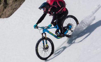 Descente de a Pique Rouge de Basiès en vélo