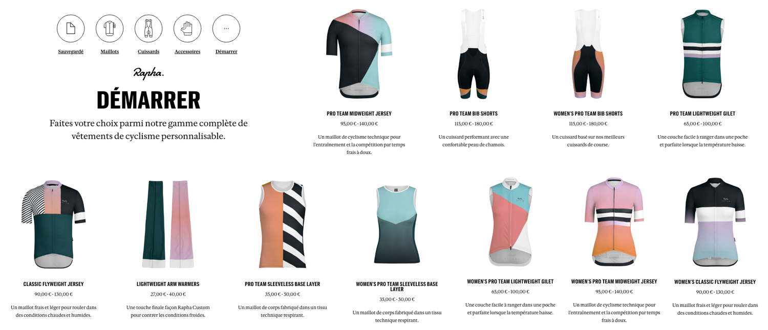 Rapha Custom cycling apparel