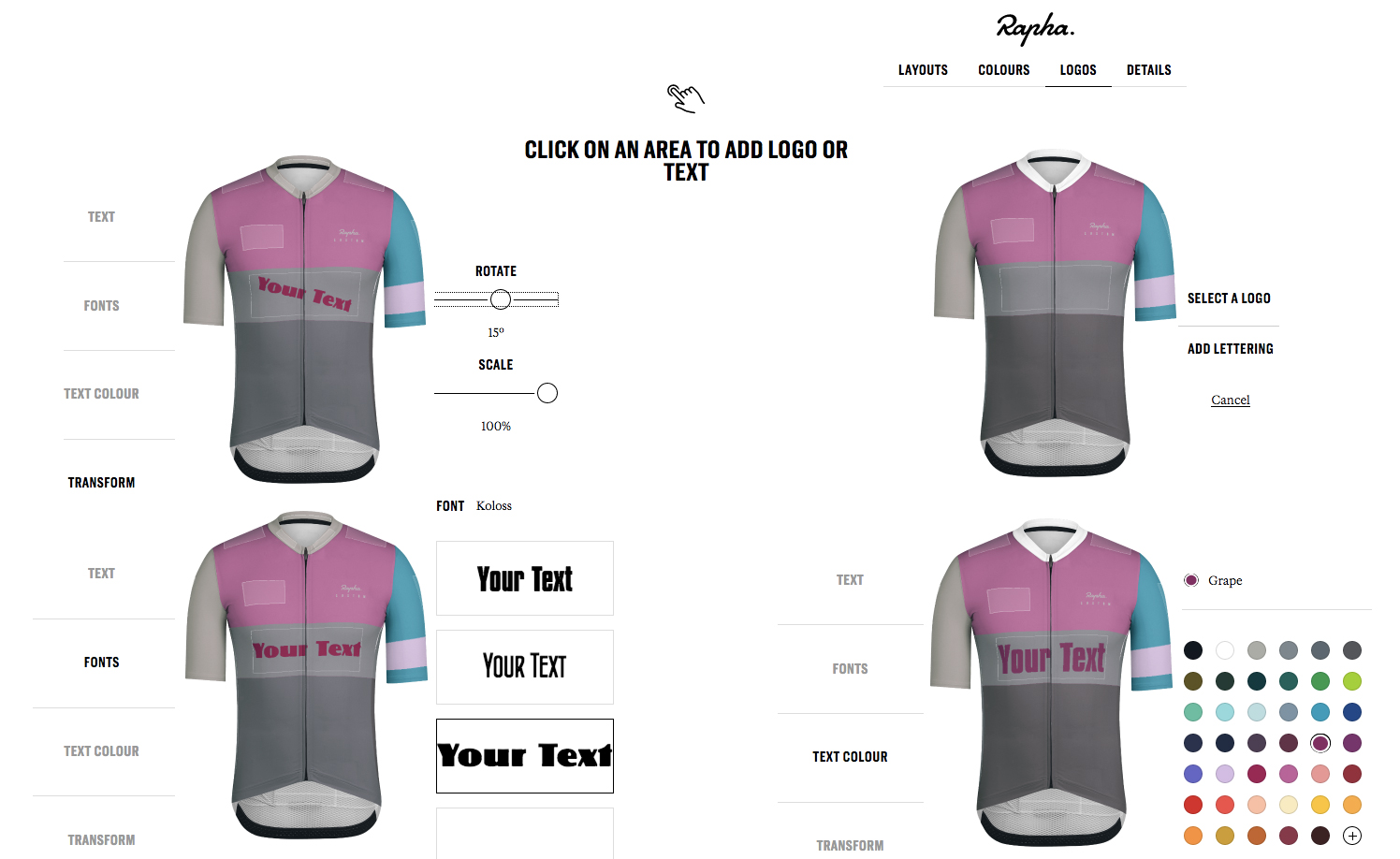 Rapha Custom Pro Team mid jersey cycling apparel