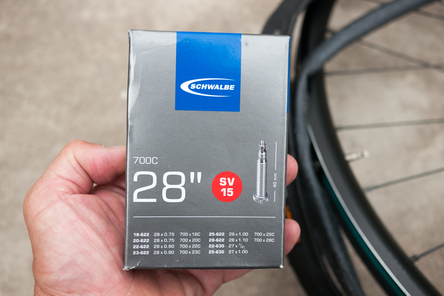 Scwalbe SV15 inner tube road cycling