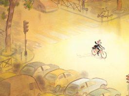Vélo et bande dessinée expo galerie Glenat