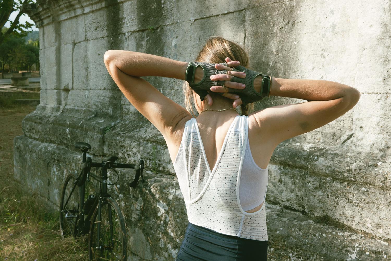 Rapha + Outdoor Voices bib short women cycling apparel