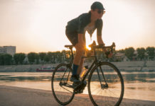 Rapha + Outdoor Voices women cycling apparel fixed gear Rhône Arles sunset