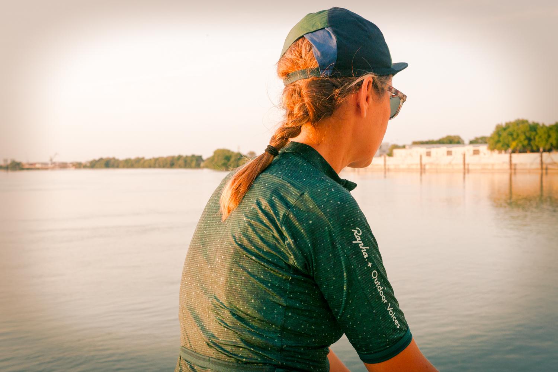 Rapha + Outdoor Voices women cycling apparel cap
