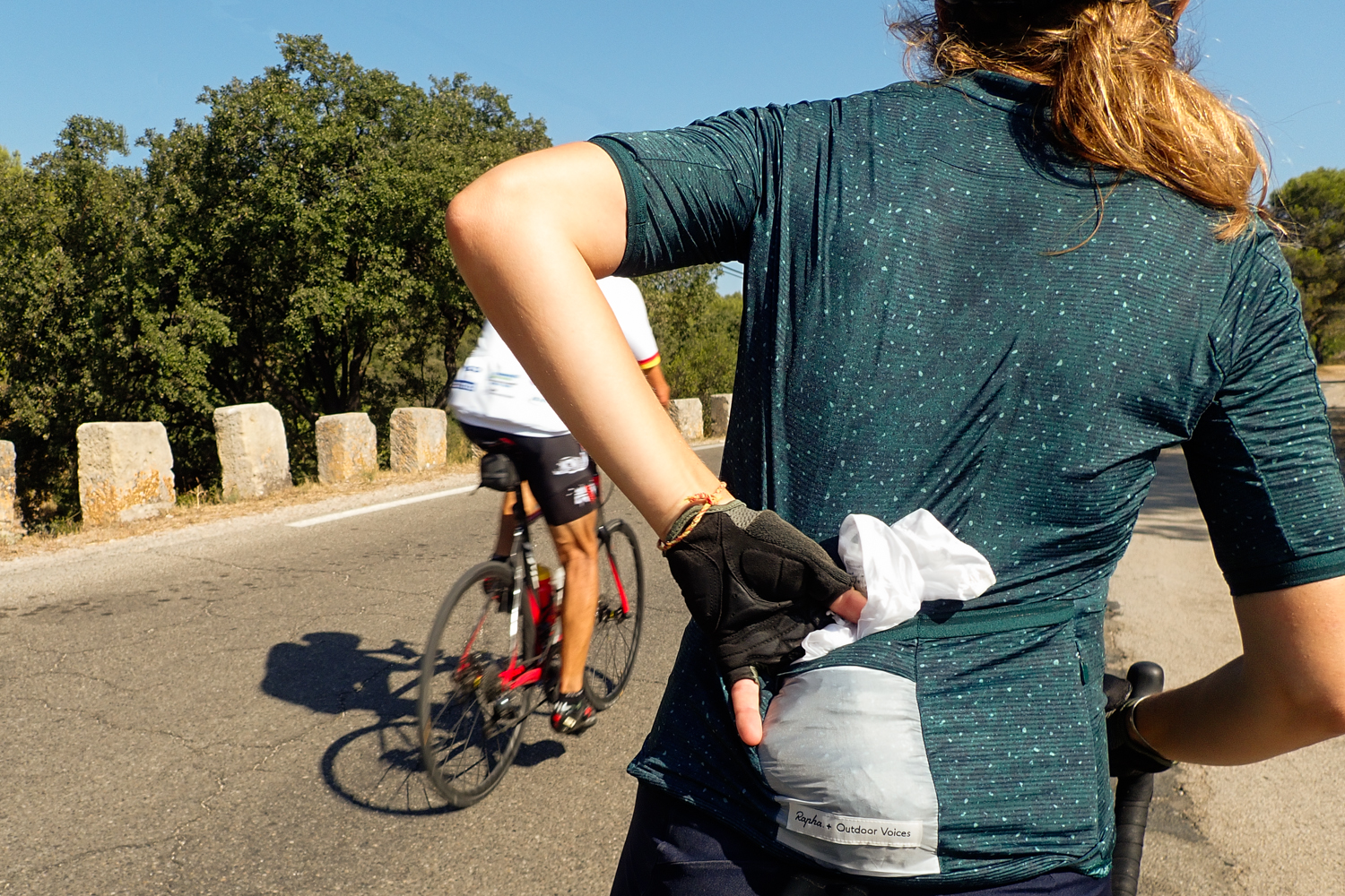 Rapha + Outdoor Voices women cycling apparel jersey pocket