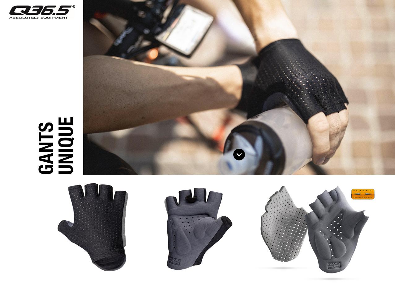 Q36.5 Unique cycling gloves apparel Elastic Interface Palm 3D