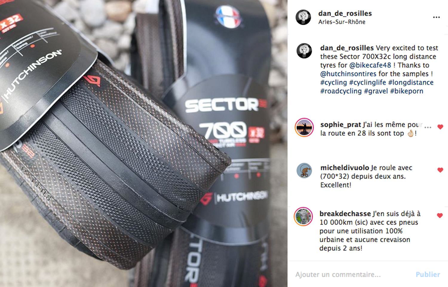 Hutchinson Sector tyre 700X32c gravel long distance all around allroad cycling Instagram