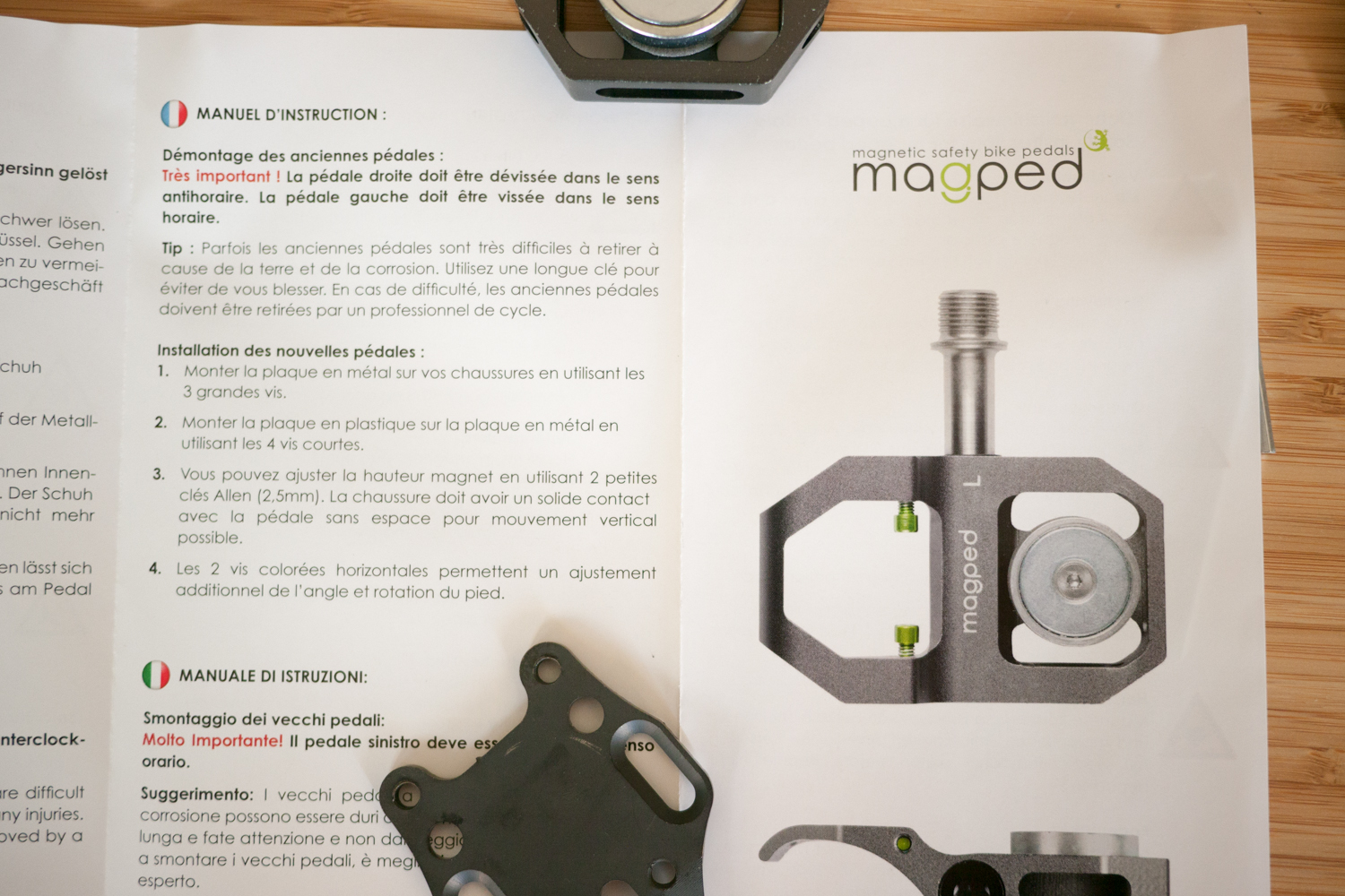 Magped magnetic cycling pedals notice