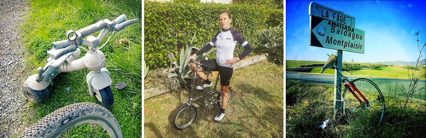 Le vélo permet une grande diversité de pratiques; profitons-en ! - photos Dan de Rosilles