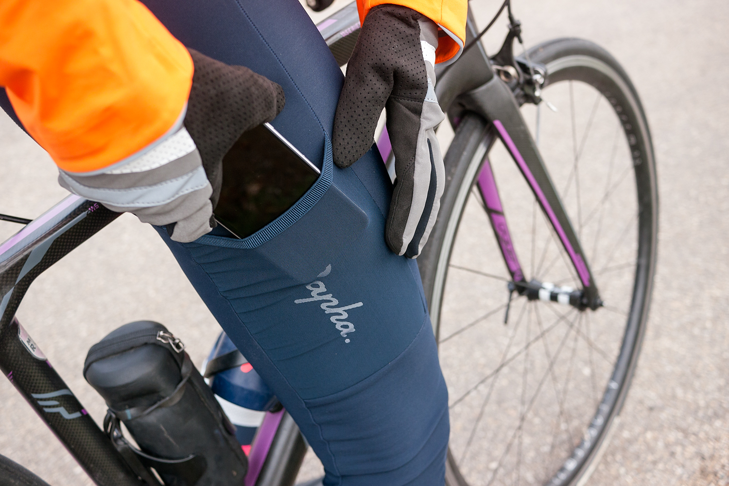 Women's Cargo Winter Tights With Pad cycling apparel clothes