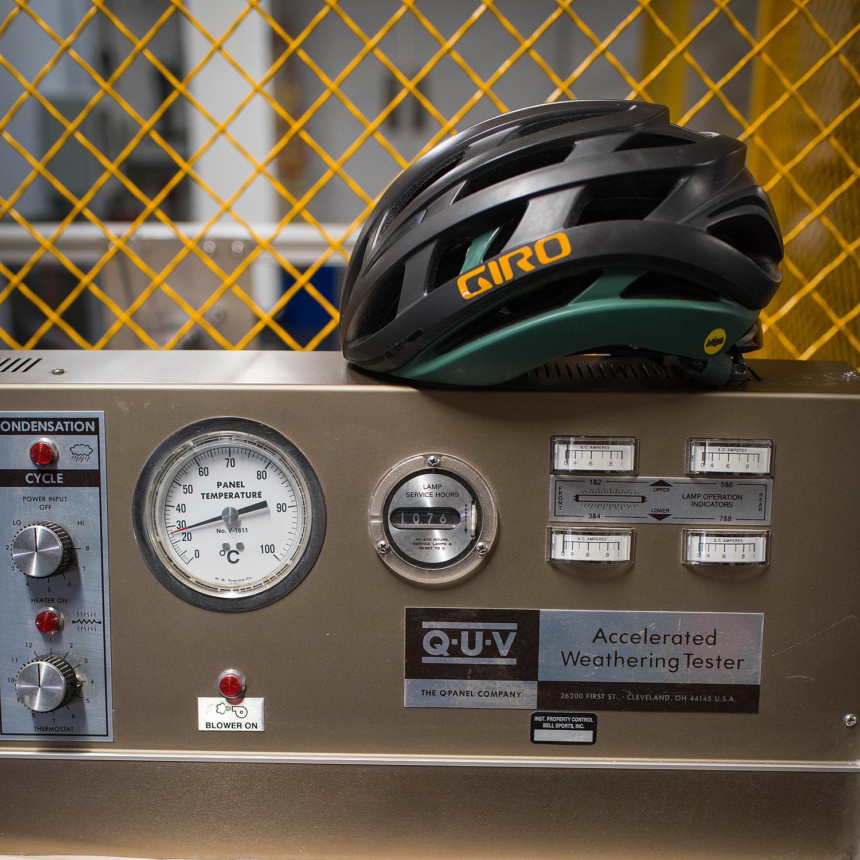 Le casque Giro Helios testé en soufflerie - photo Giro