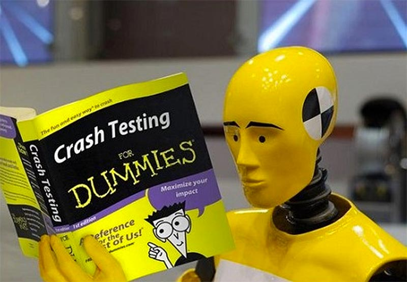Crash test casque