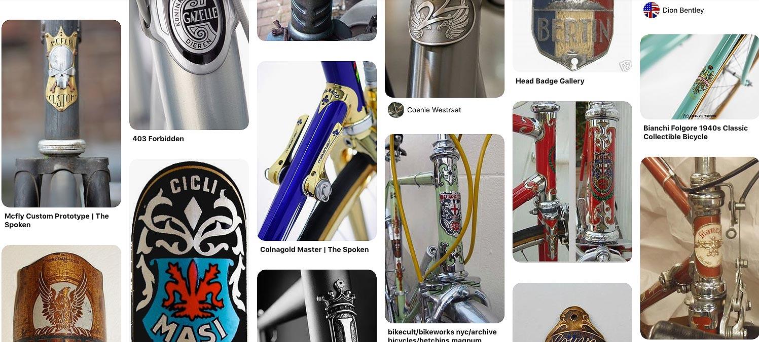 Plaques de cadres de vélo
