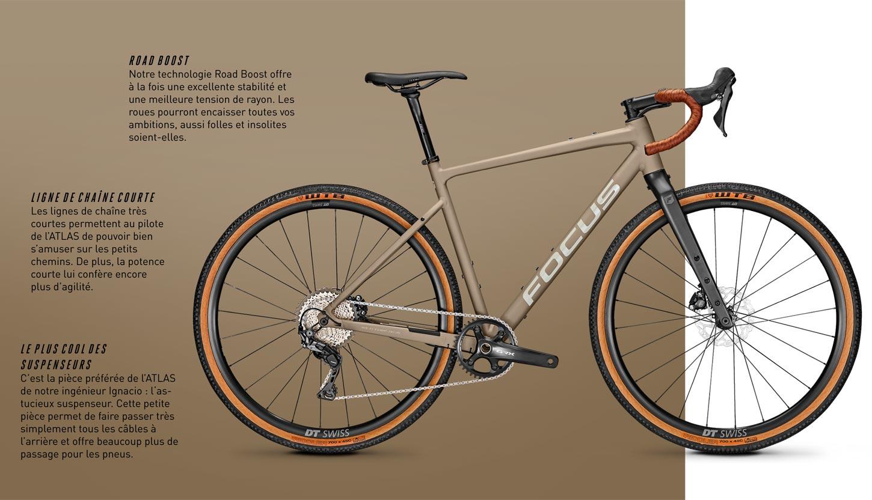 Focus Atlas un vélo polyvalent gravel et bikepacking