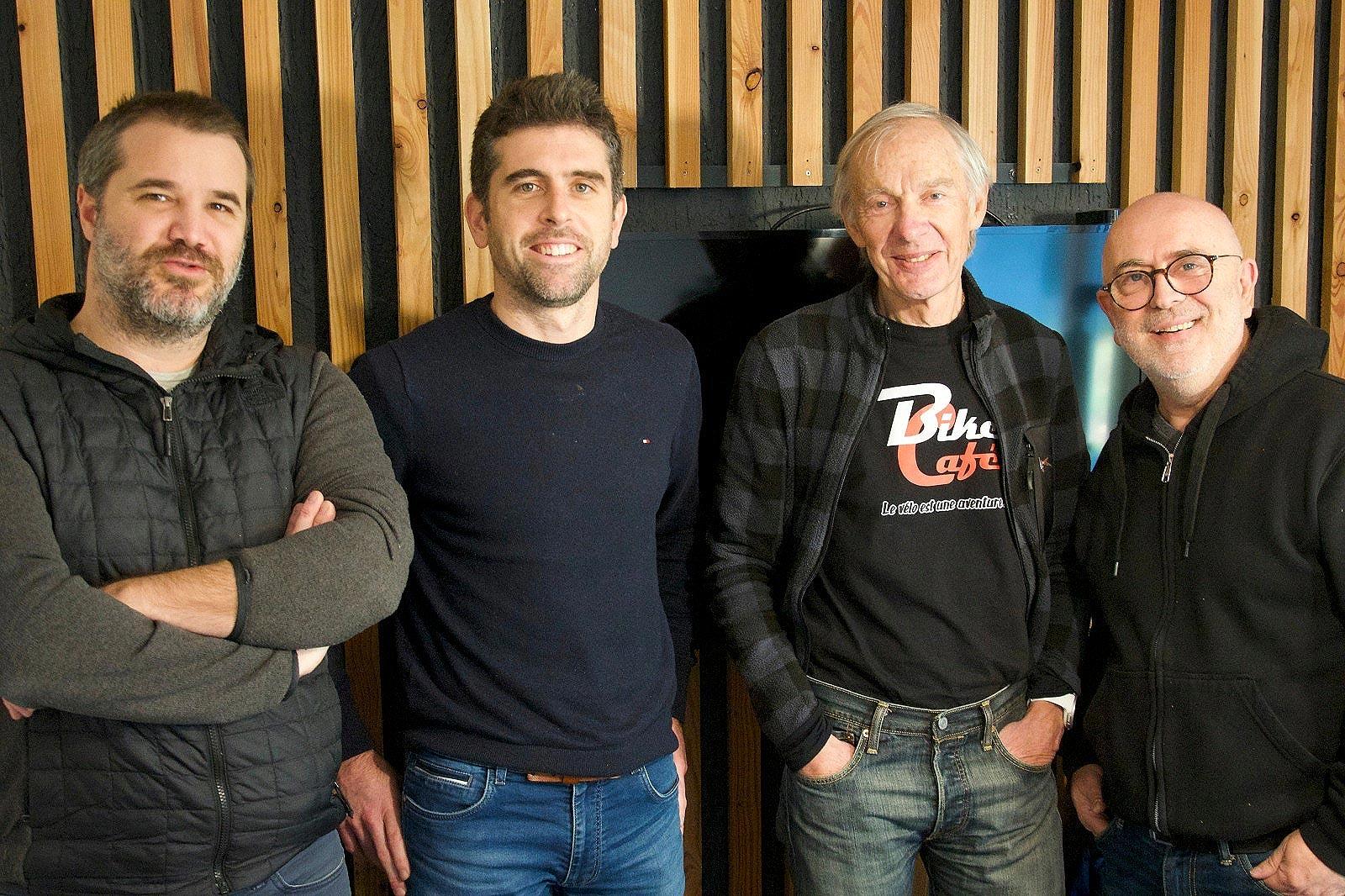 L'équipe de Bike Café SAS : Colin, Matthieu, Patrick et Jérôme