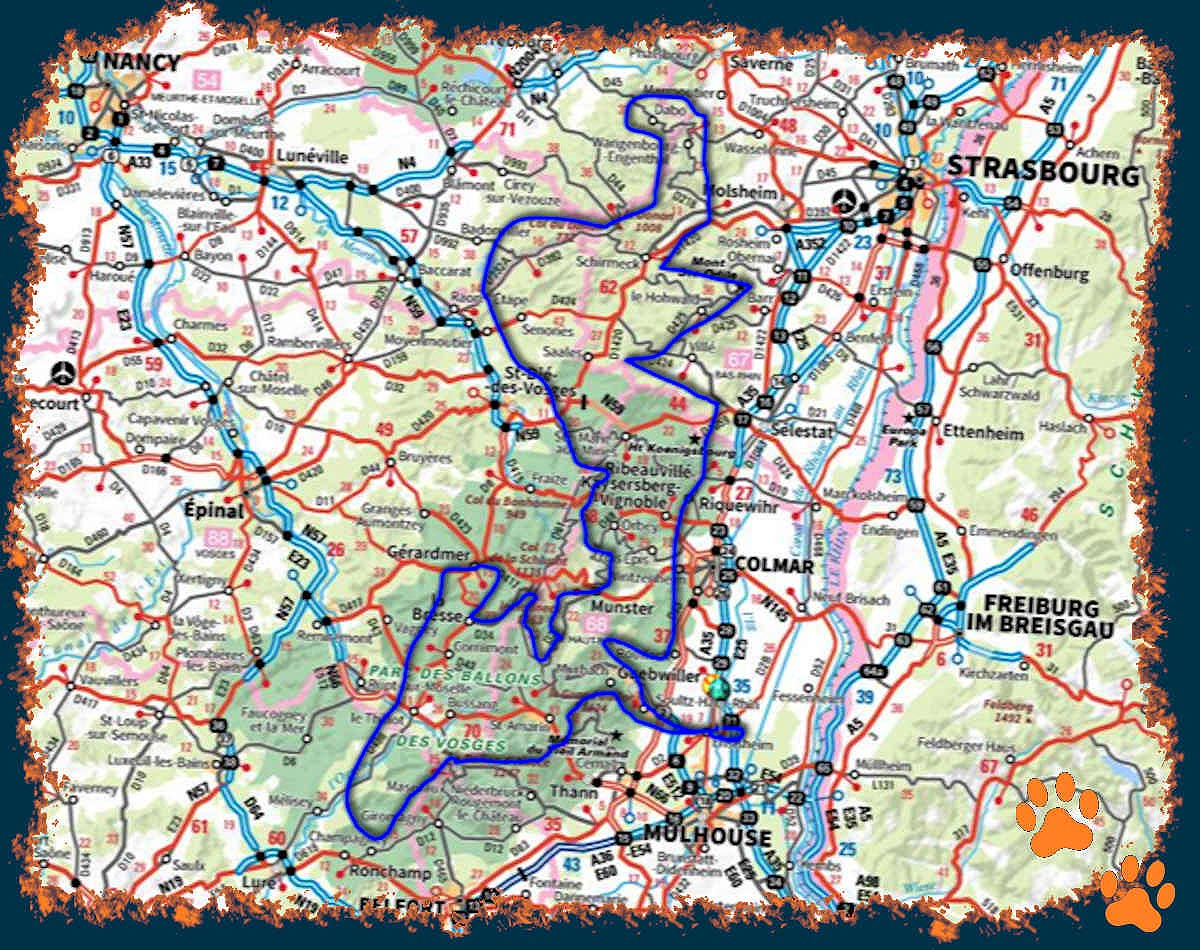 Le Tour du massif vosgien gravel et VTT