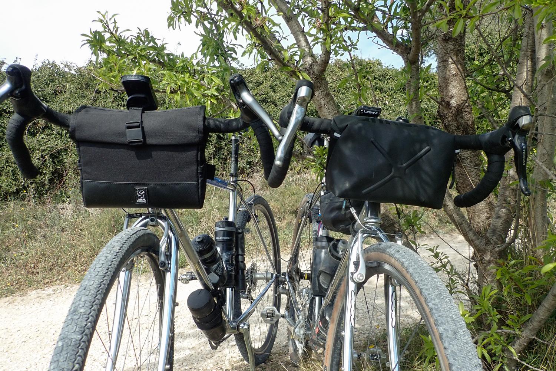 Chrome Industries panniers handlebar bags Doubletrack Helix Sunn Cycloss gravel CX bikes