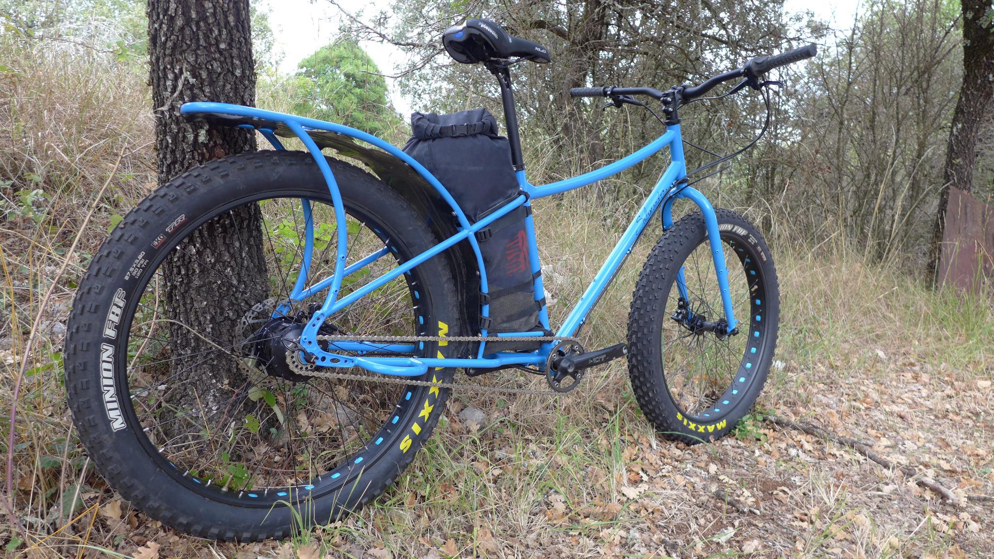 Yann Thomas cadreur Ardèche Salamandre Cycles Fatbike cargo
