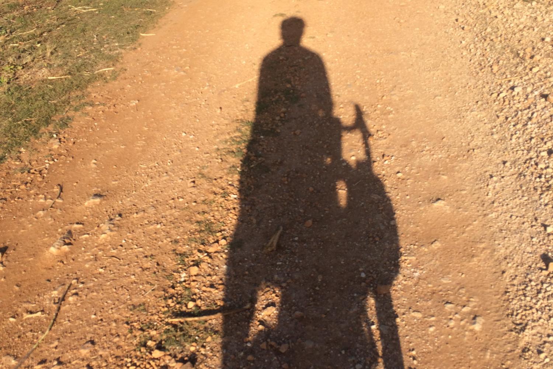 Bikepacking gravel track sunset