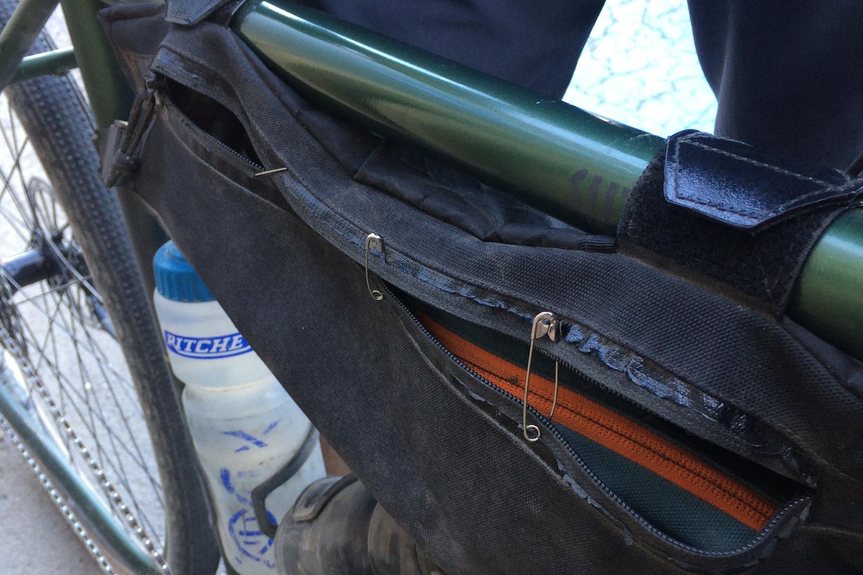 Bikepacking framebag issue