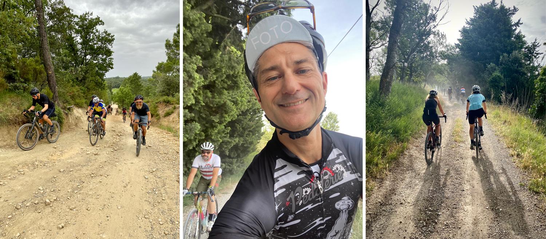 Pascal Colomb la Pédalerie gravel ride Arles Gravel Orange is the new gravel