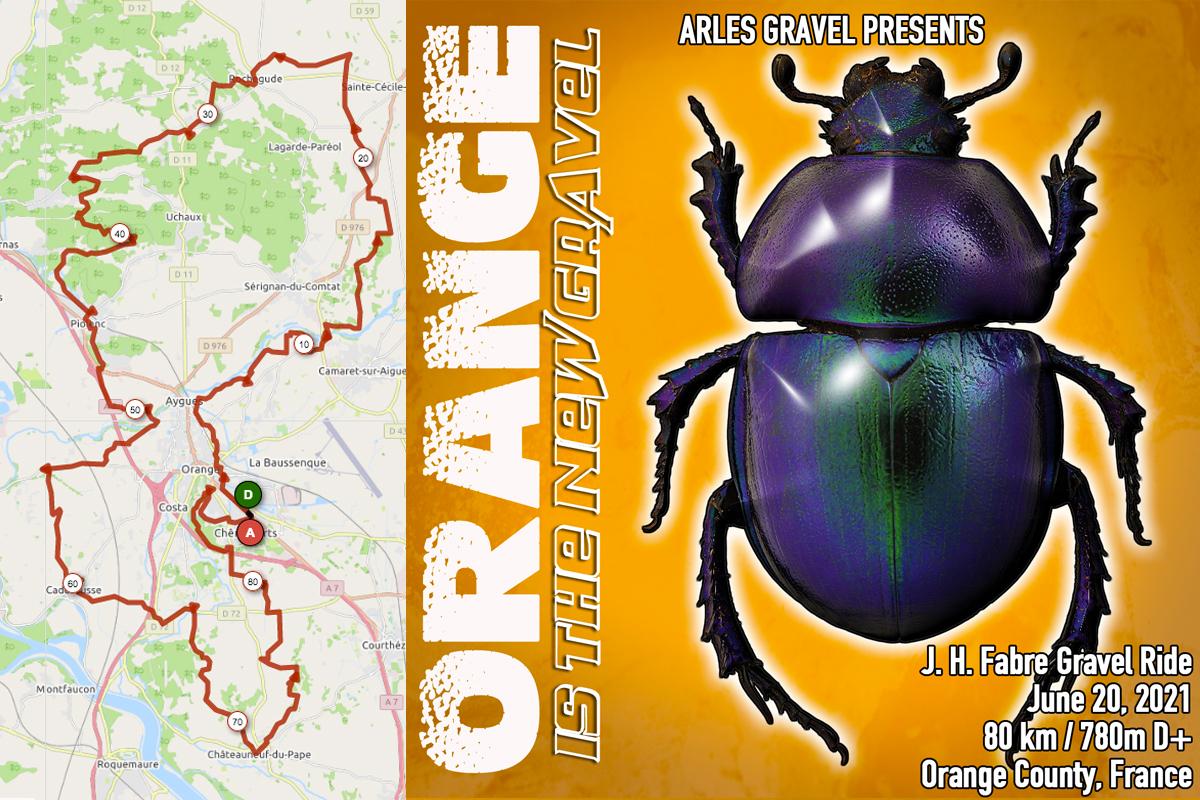 Orange is the new gravel route openrunner arles gravel