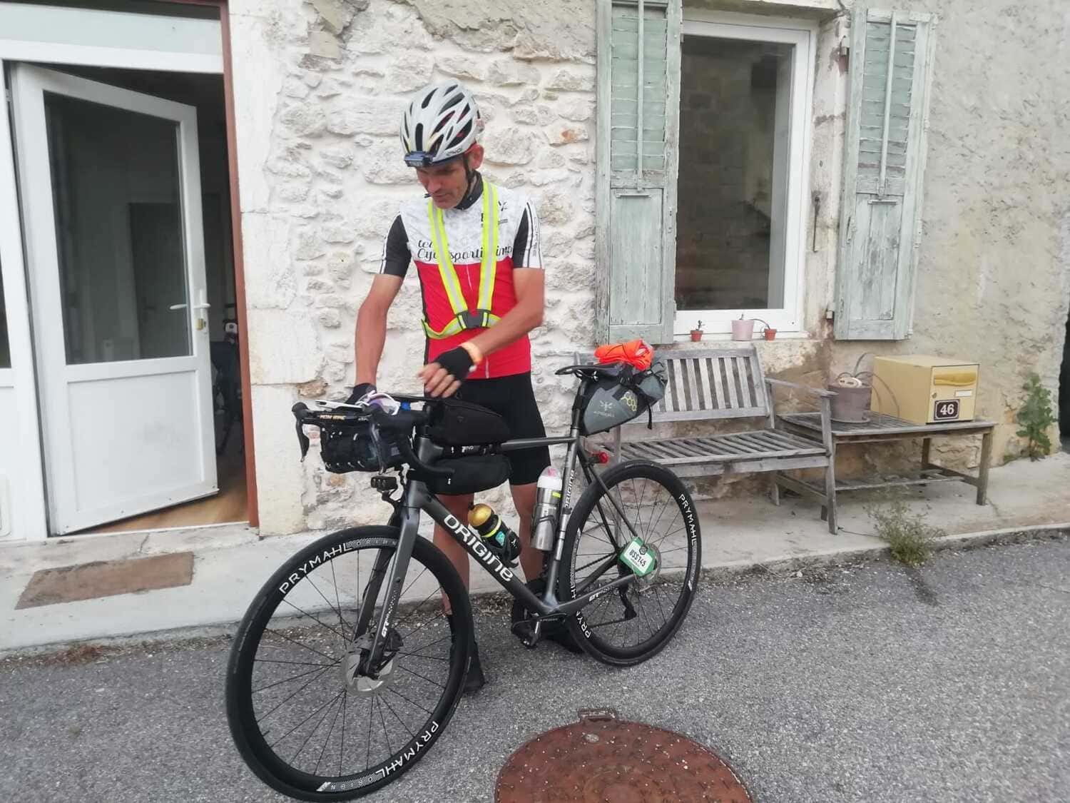 Race Across France RAF ultra-cycling route Patrick Gilles