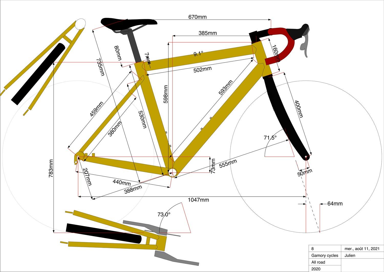 Gamory Cycles fabrique sur mesure des vélos en bambou