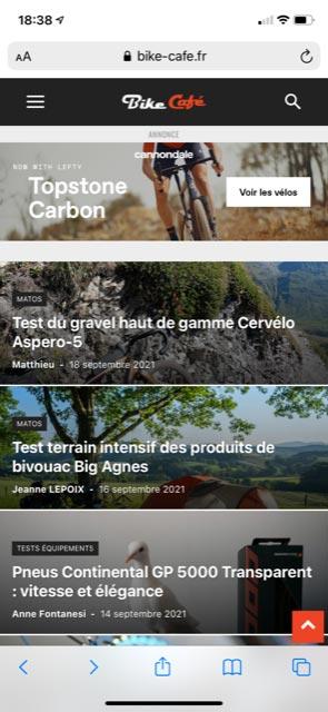 Bike Café responsive