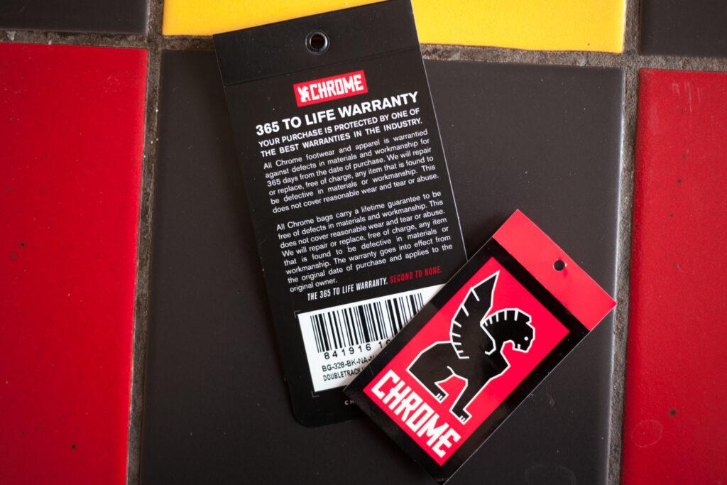 Chrome Industries lifetime warranty